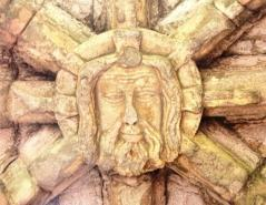 Roof Boss From Melrose Abbey