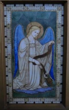 Mosaic Angel Lady Chapel Altar St Bride's