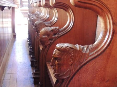 fun choir stall carvings
