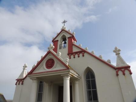 Outside the Italian Chapel