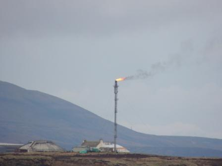 Oil Flare on Flotta