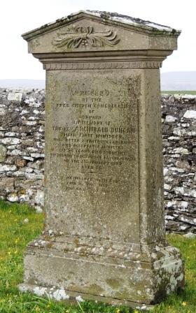 Orphir ministers gravestone