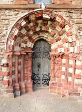St Magnus Cathedral checkerboard doorway