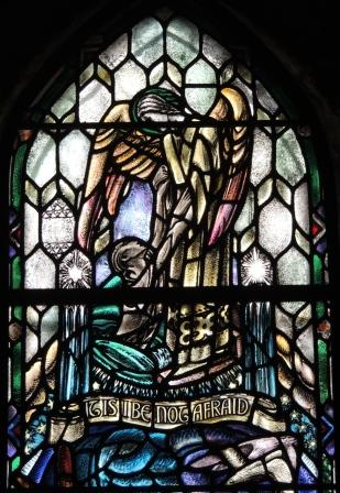 Do Not Be Afraid Douglas Strachan window Kilbrandon Church