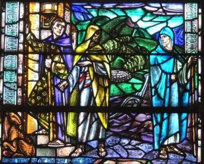 Road to Emmaus Douglas Strachan window Kilbrandon Church
