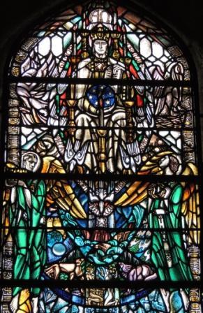 Ascended Glorified Douglas Strachan window Kilbrandon Church