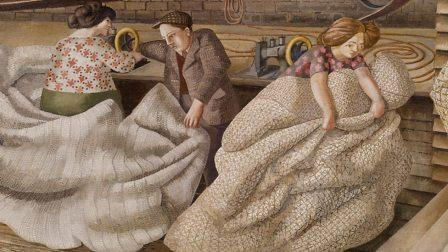 Shipbuilding on the Clyde by Sir Stanley Spencer, Riggers detail
