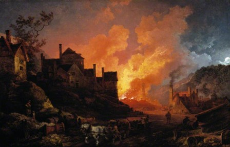 Coalbrookdale by Night by Philip James de Loutherbourg