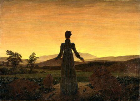 Woman Before the Rising Sun (Woman before the Setting Sun) by Caspar David Friedrich