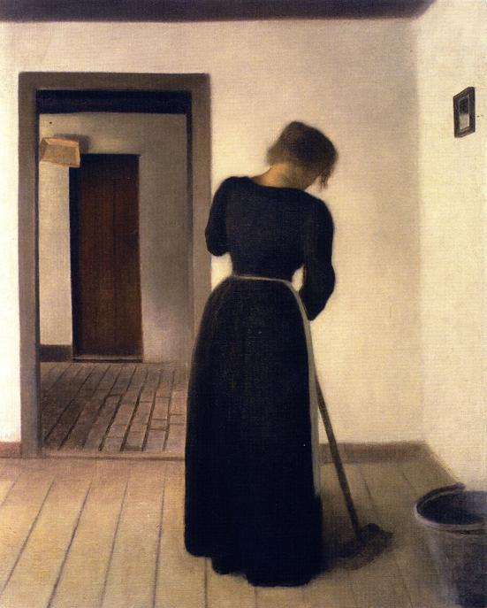 interior-with-a-young-woman-sweeping-by-vilhelm-hammershoi